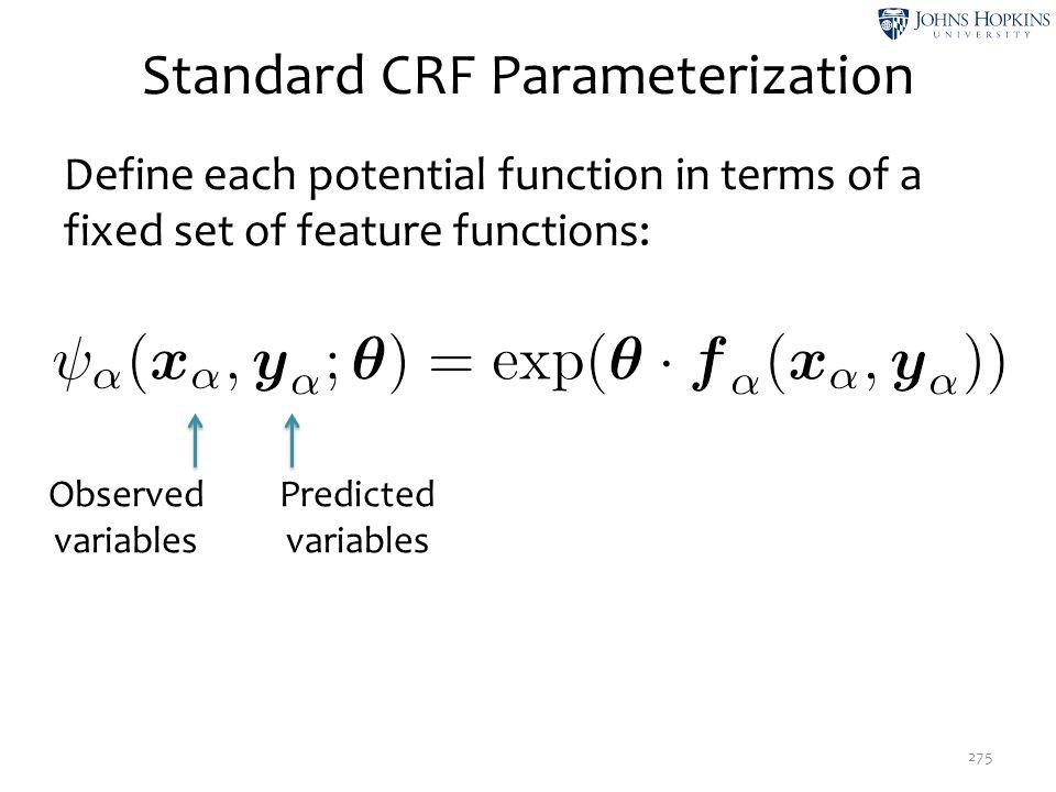 Standard CRF Parameterization