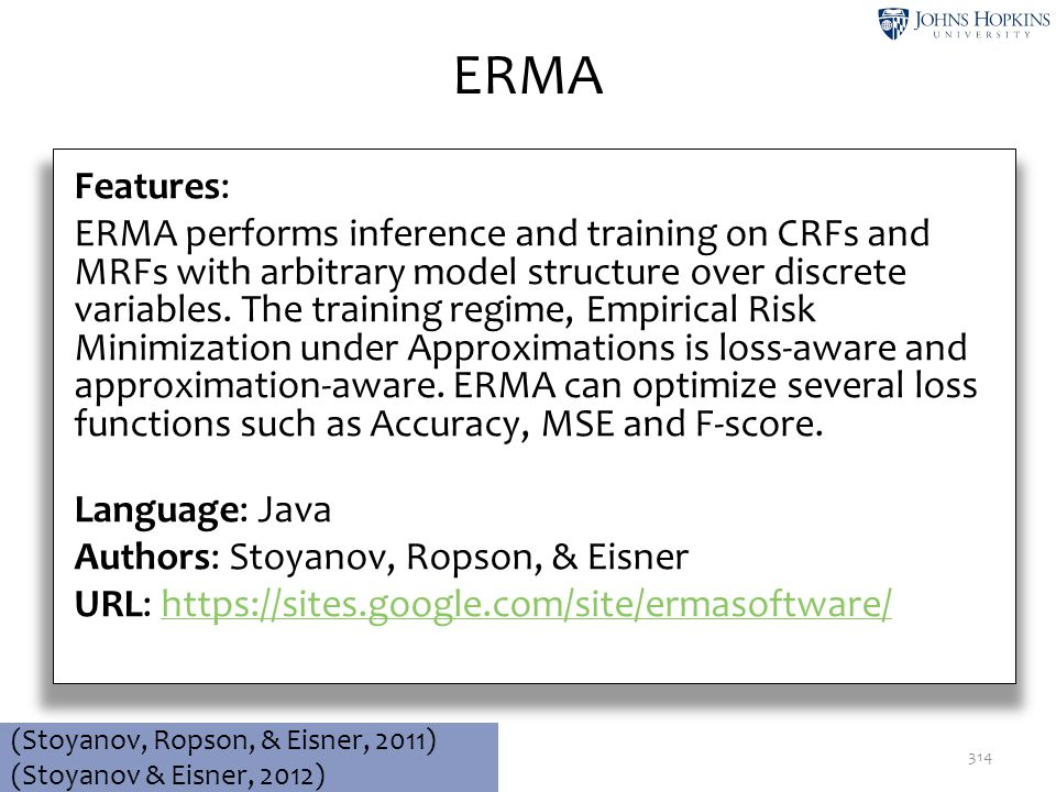 ERMA Features: