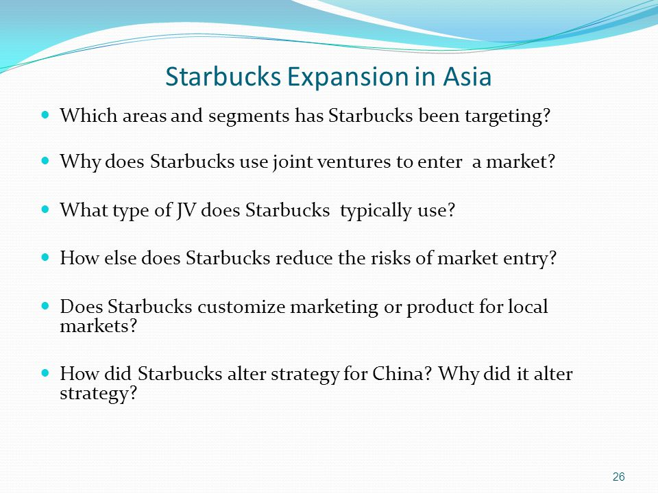 Starbucks Expansion in Asia