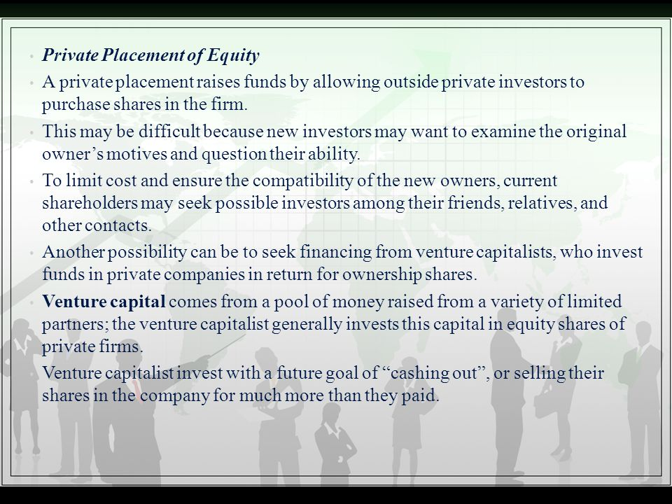 Private Placement of Equity