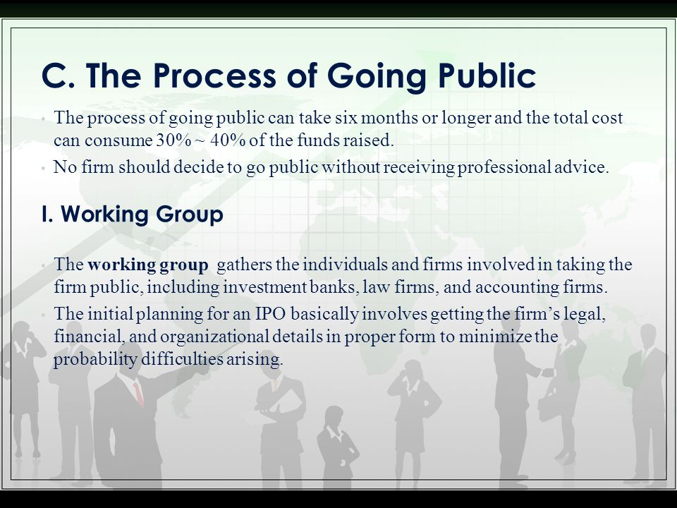 C. The Process of Going Public