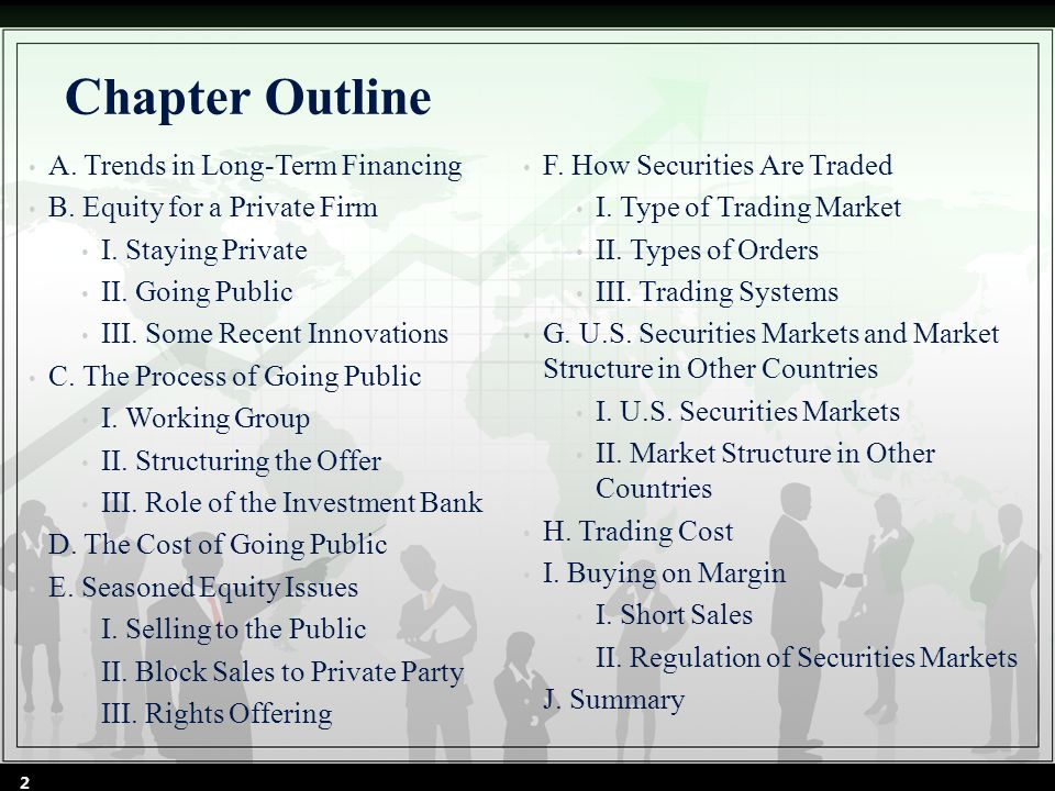 Chapter Outline A. Trends in Long-Term Financing