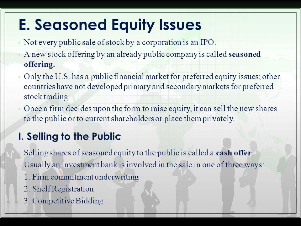 E. Seasoned Equity Issues