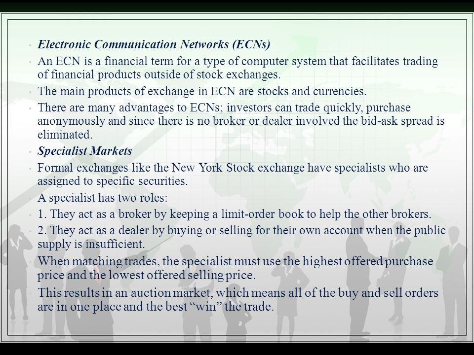 Electronic Communication Networks (ECNs)
