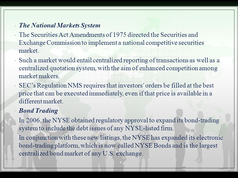 The National Markets System