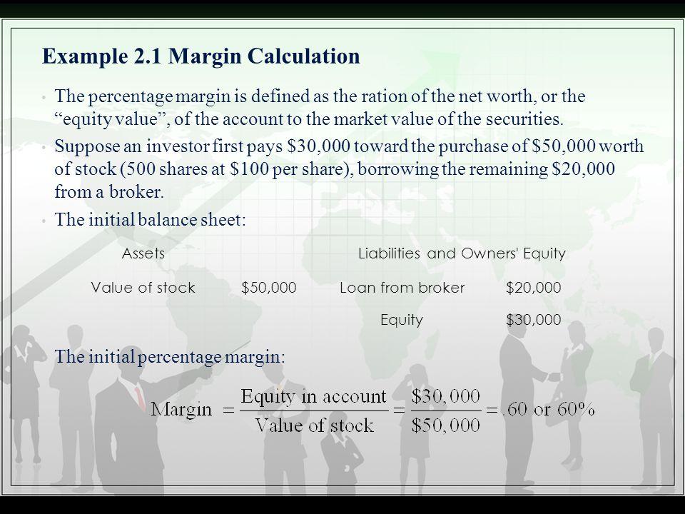 Example 2.1 Margin Calculation