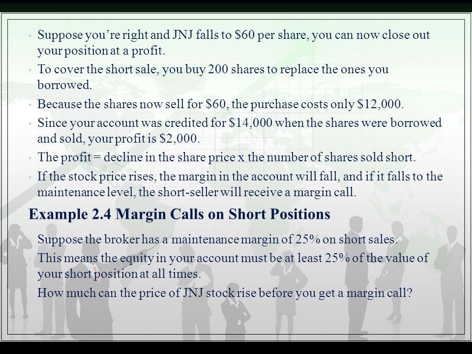 Example 2.4 Margin Calls on Short Positions