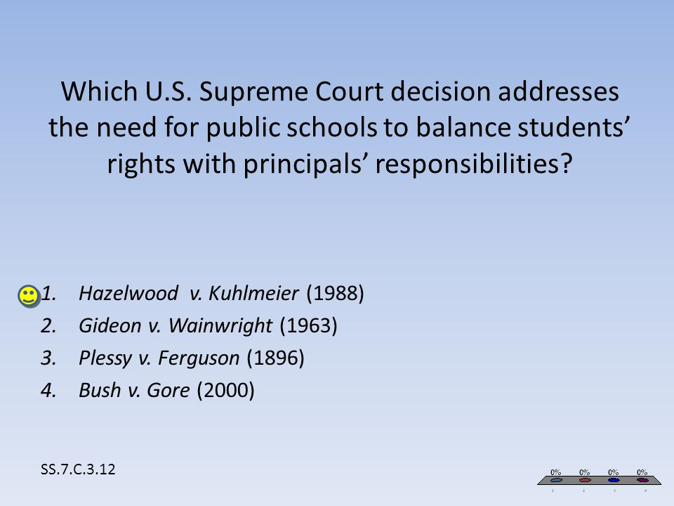 Hazelwood v. Kuhlmeier (1988) Gideon v. Wainwright (1963)