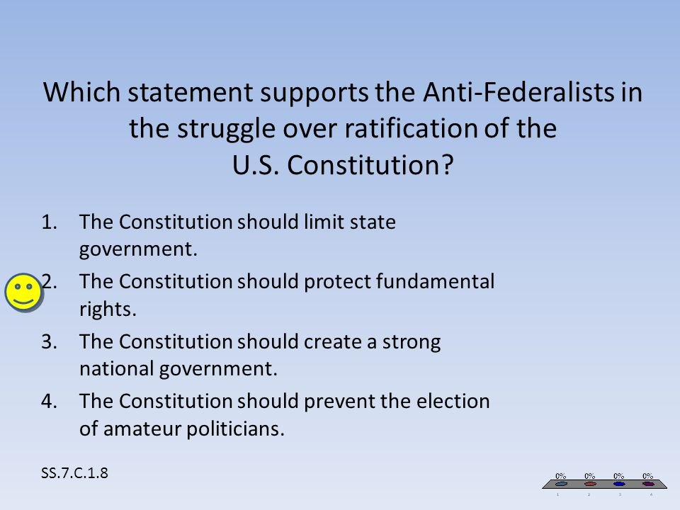 The Constitution should limit state government.