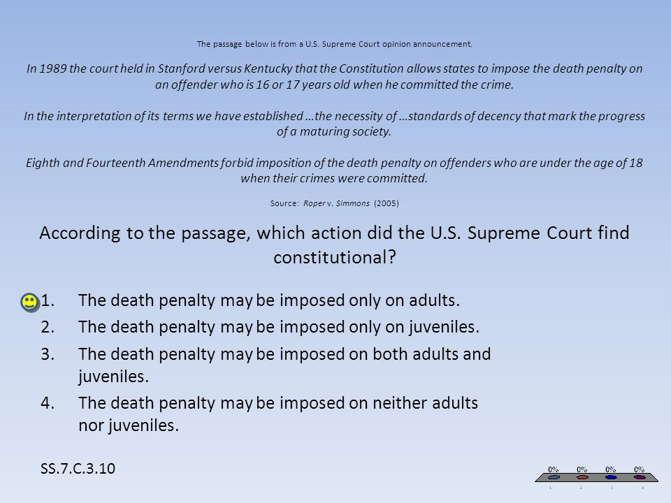 The death penalty may be imposed only on adults.