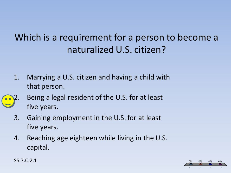 Marrying a U.S. citizen and having a child with that person.