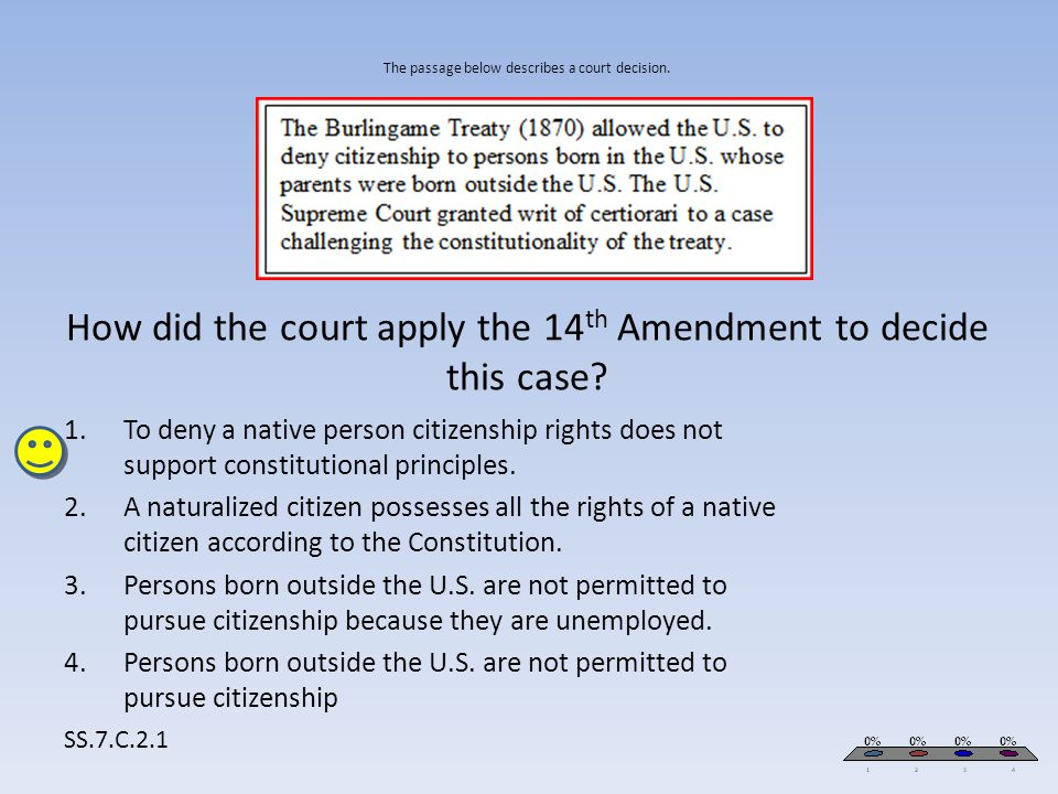 Persons born outside the U.S. are not permitted to pursue citizenship