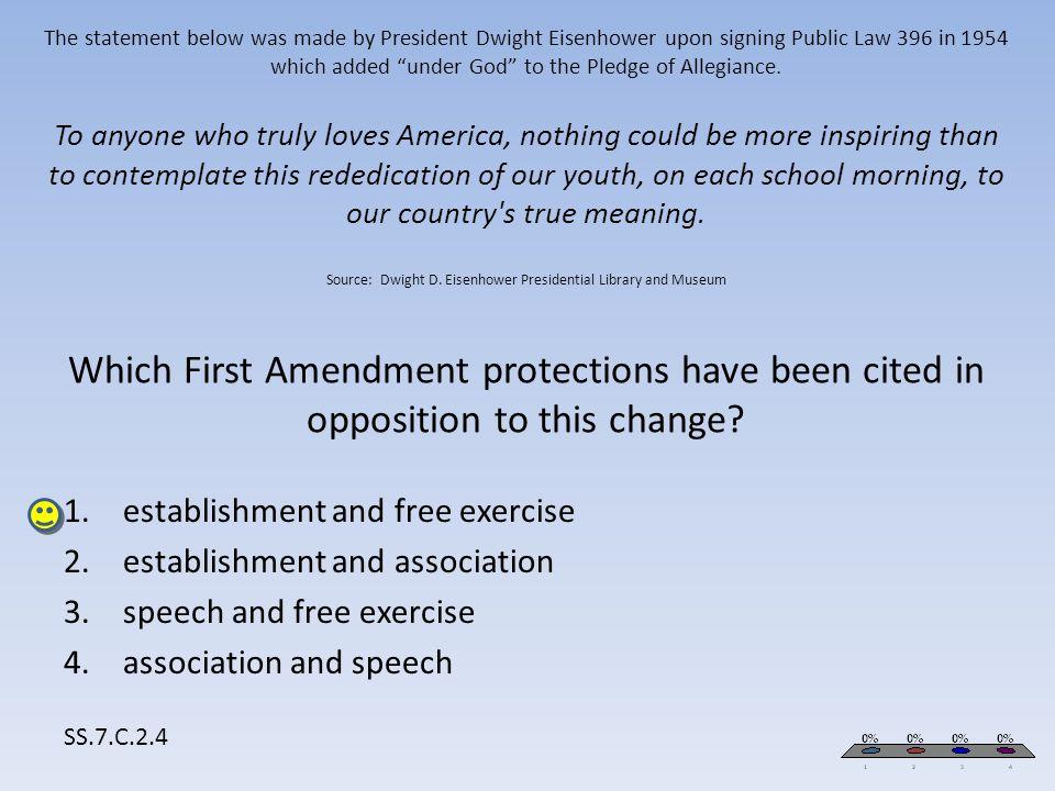 establishment and free exercise establishment and association