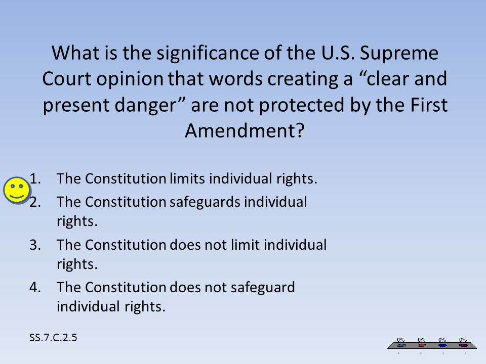 The Constitution limits individual rights.
