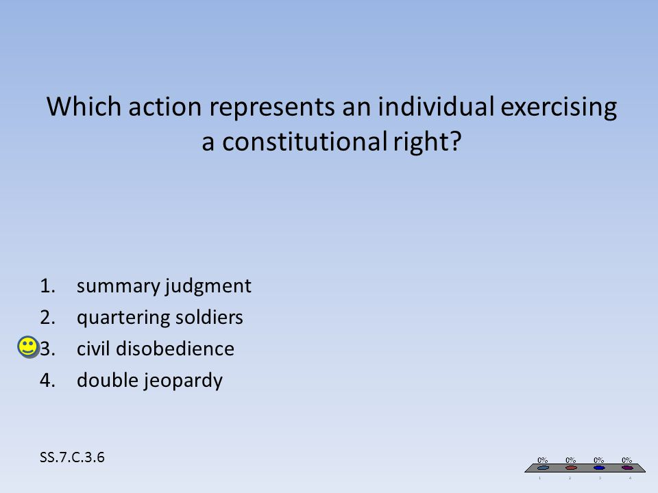 summary judgment quartering soldiers civil disobedience