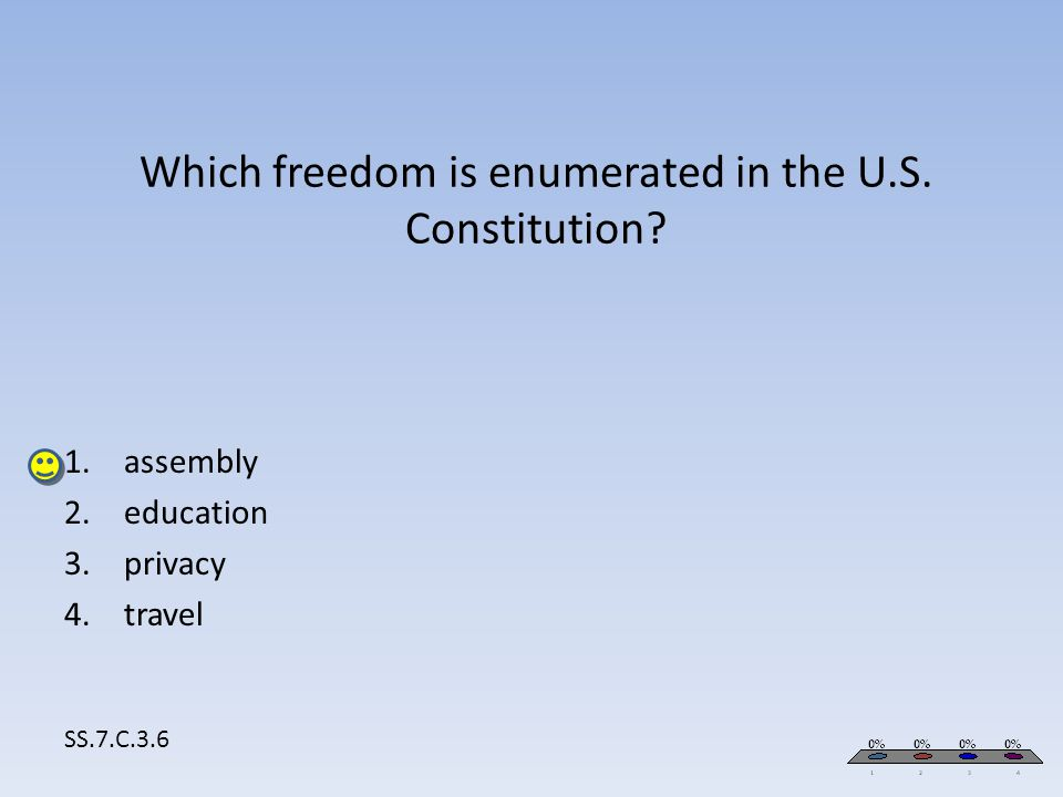 Which freedom is enumerated in the U.S. Constitution