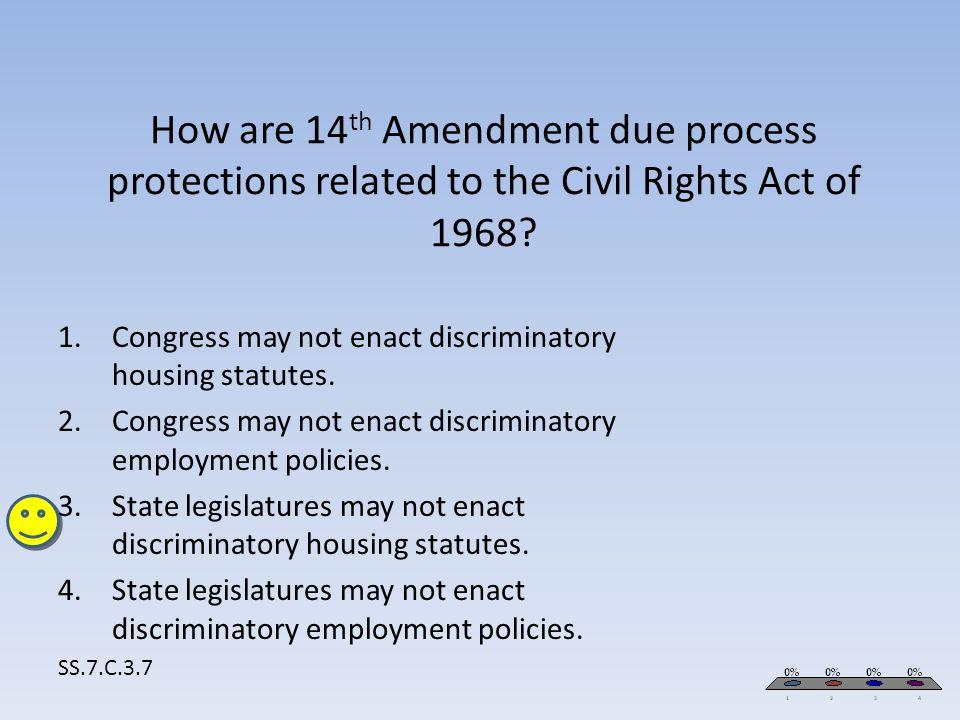 Congress may not enact discriminatory housing statutes.