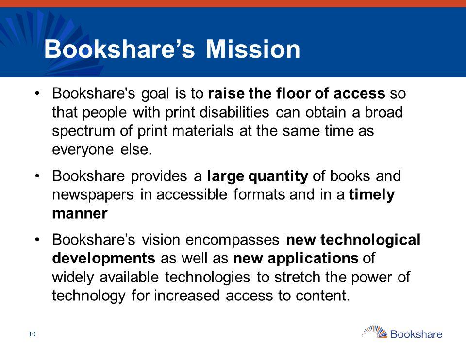 Bookshare's Mission