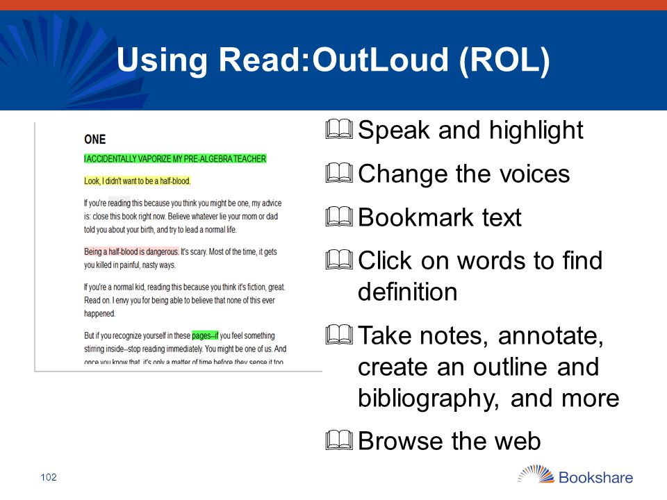 Using Read:OutLoud (ROL)