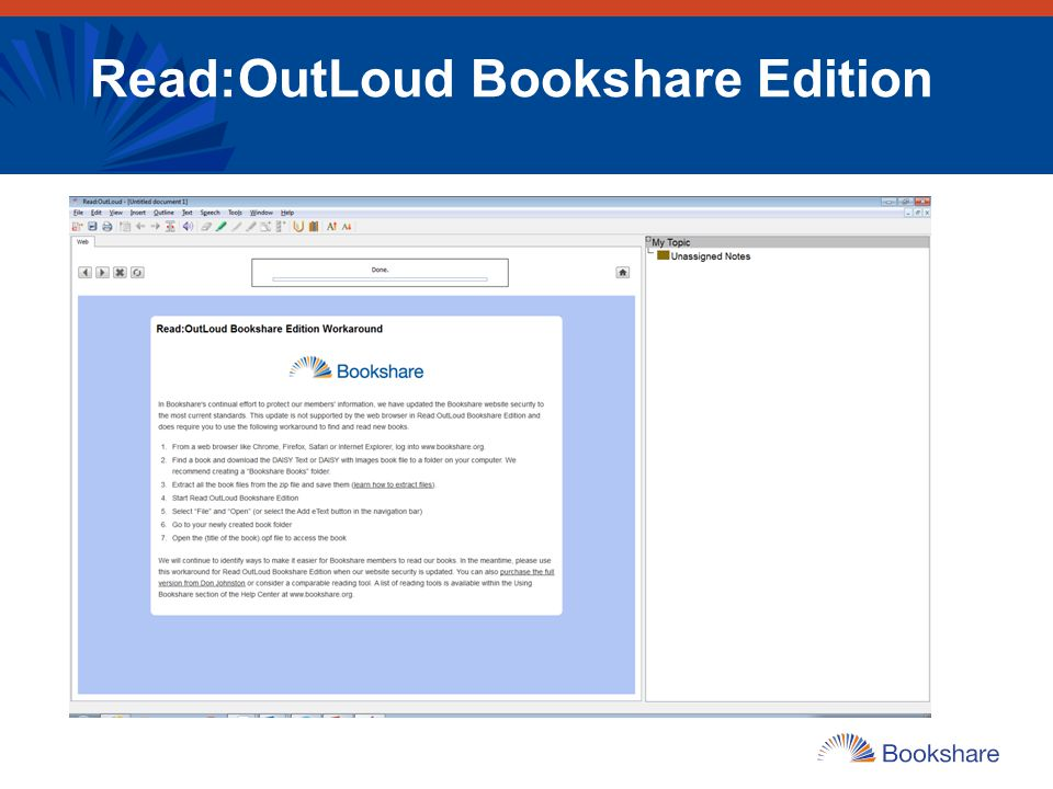 Read:OutLoud Bookshare Edition