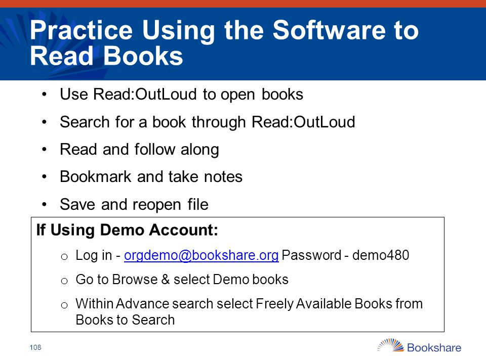 Practice Using the Software to Read Books