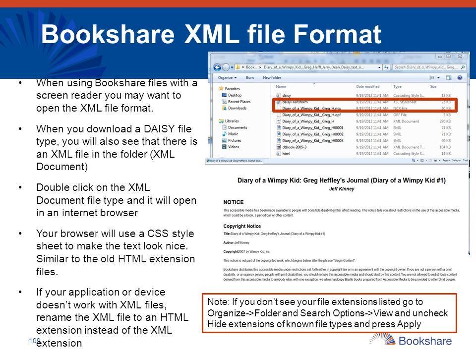 Bookshare XML file Format