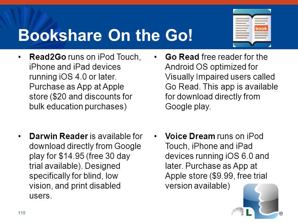 Bookshare On the Go!