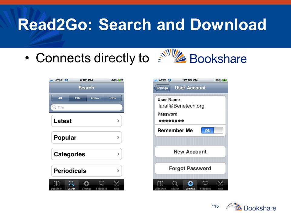 Read2Go: Search and Download