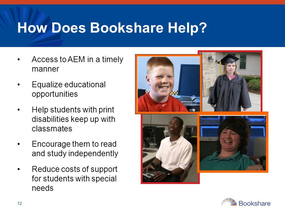 How Does Bookshare Help