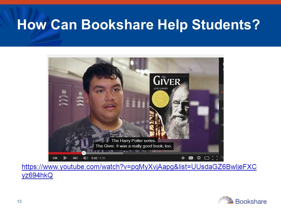 How Can Bookshare Help Students