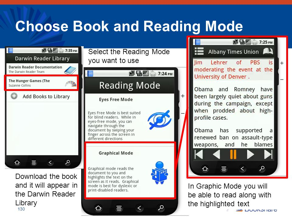 Choose Book and Reading Mode