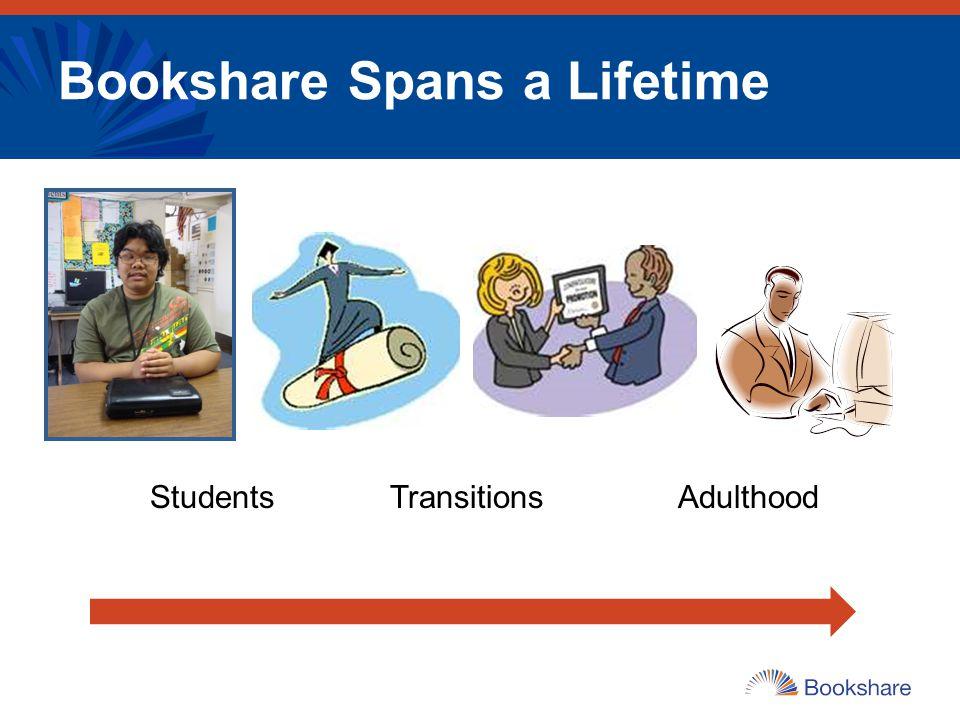 Bookshare Spans a Lifetime