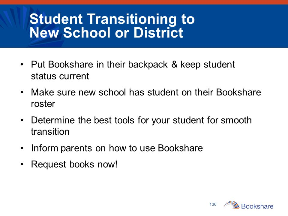Student Transitioning to New School or District