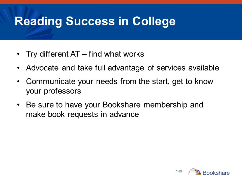 Reading Success in College