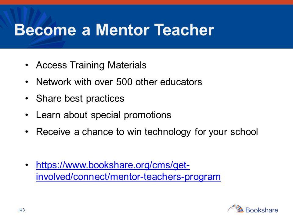 Become a Mentor Teacher