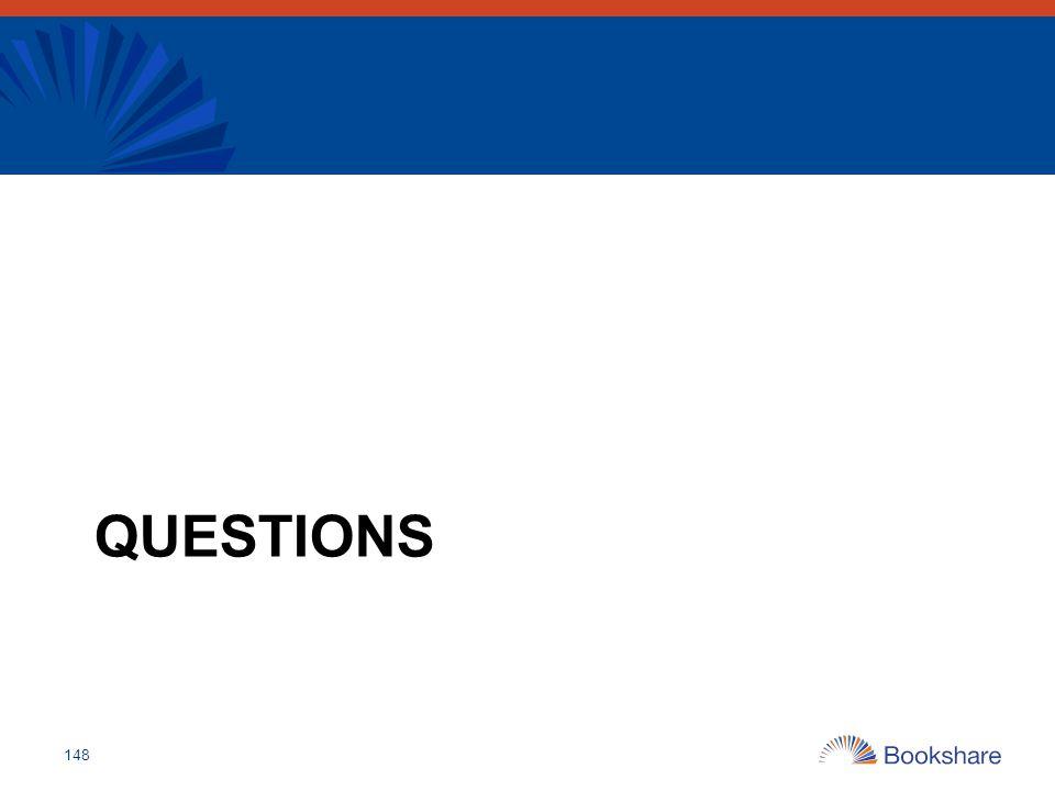 Final questions Questions