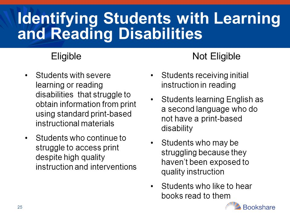 Identifying Students with Learning and Reading Disabilities
