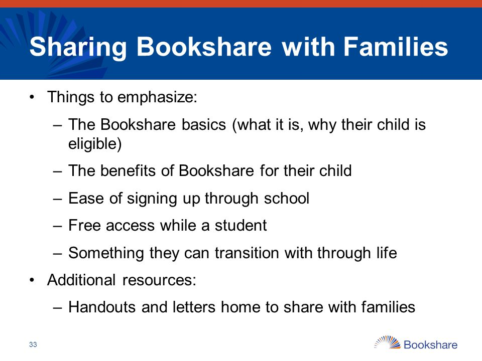 Sharing Bookshare with Families