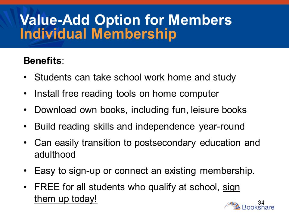 Value-Add Option for Members Individual Membership