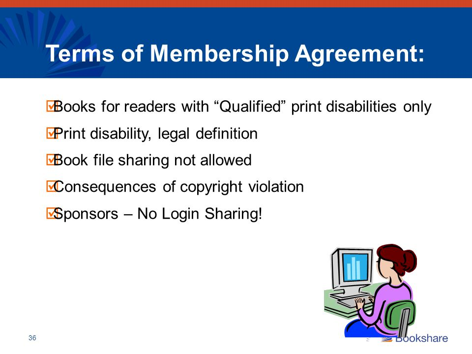 Terms of Membership Agreement:
