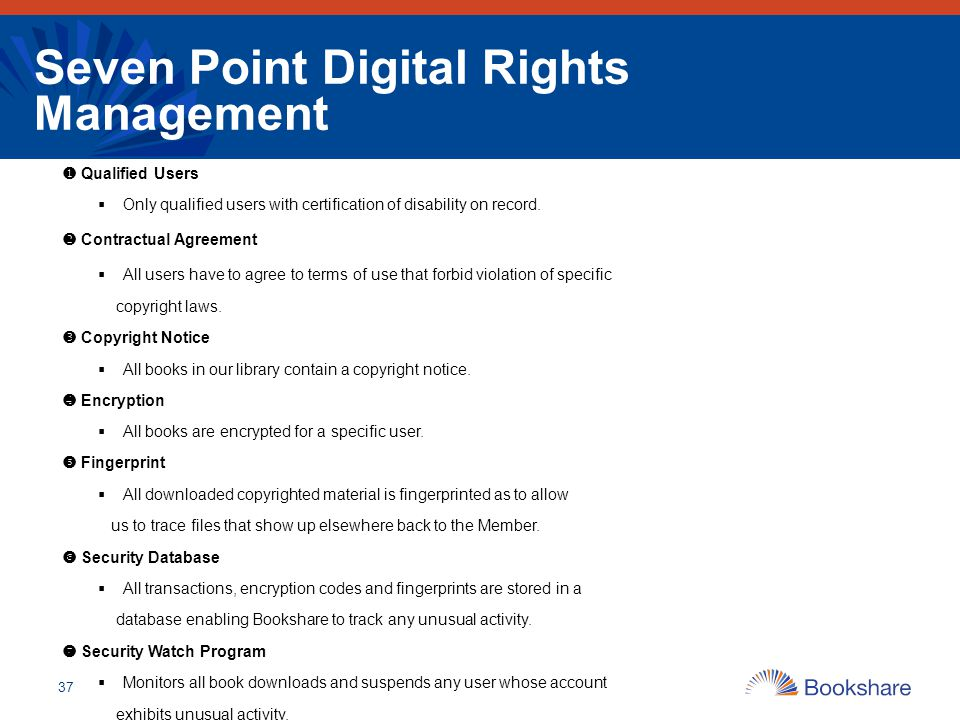 Seven Point Digital Rights Management