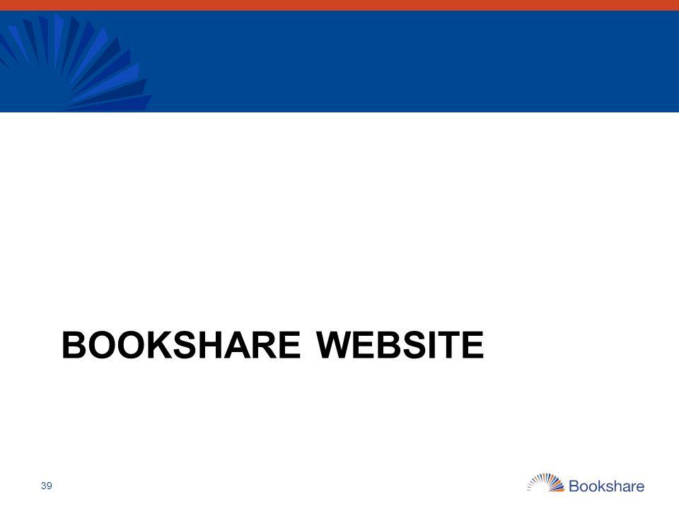 Bookshare Website