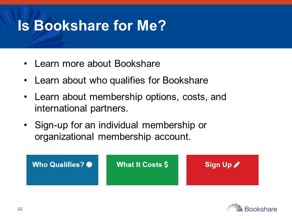 Is Bookshare for Me Learn more about Bookshare