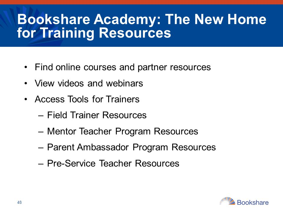 Bookshare Academy: The New Home for Training Resources