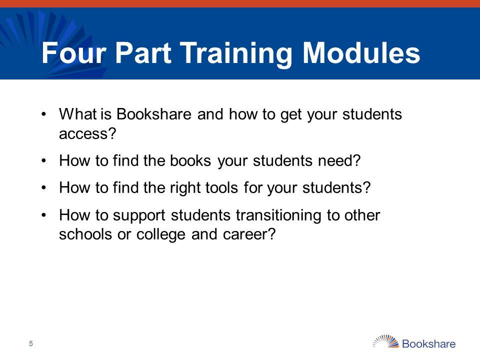Four Part Training Modules