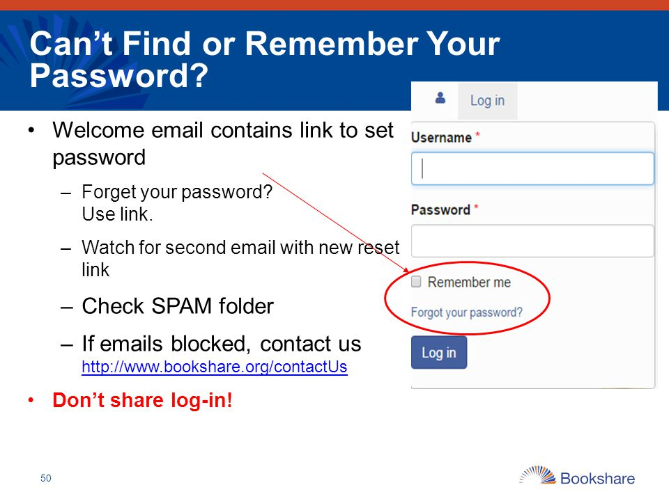 Can't Find or Remember Your Password