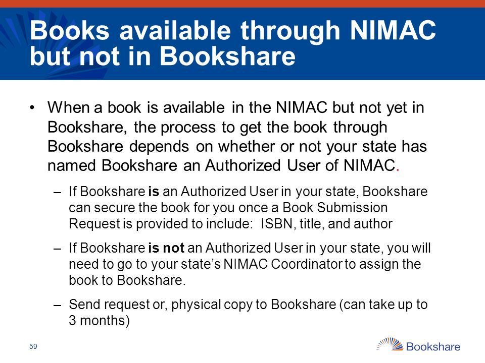 Books available through NIMAC but not in Bookshare