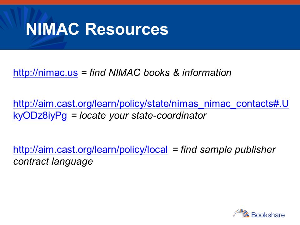 NIMAC Resources