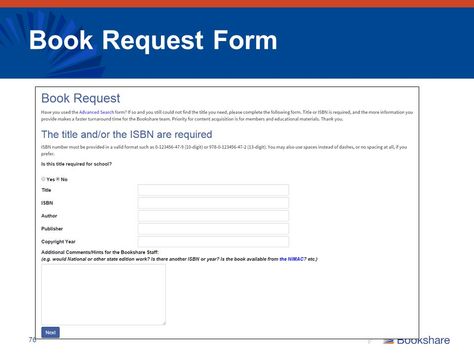 Book Request Form