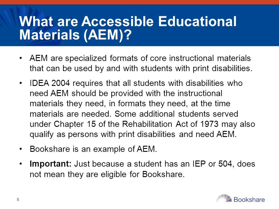 What are Accessible Educational Materials (AEM)